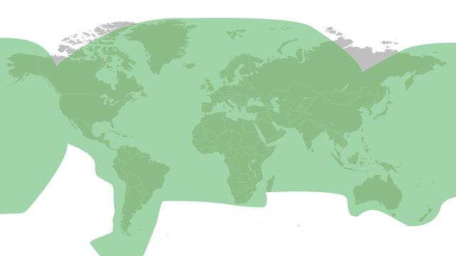 Global VSAT coverage map – Ku Band